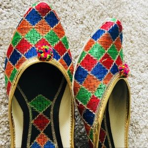Shoes - MOVING OUT SOON ! MUST GO  ! Rainbow Pom Pom Jutti